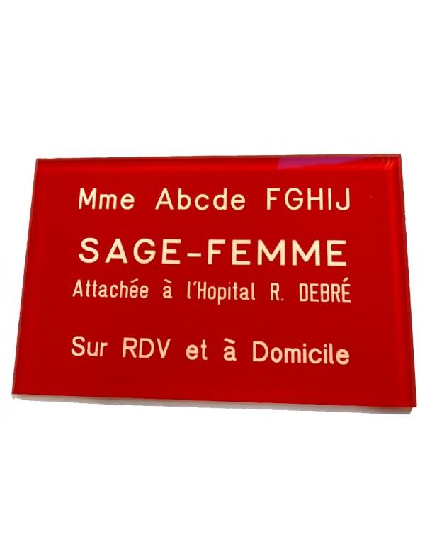 Plaque Sage Femme