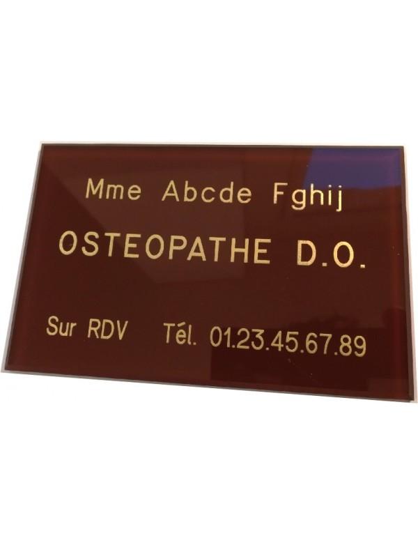 Plaque Ostéopathe