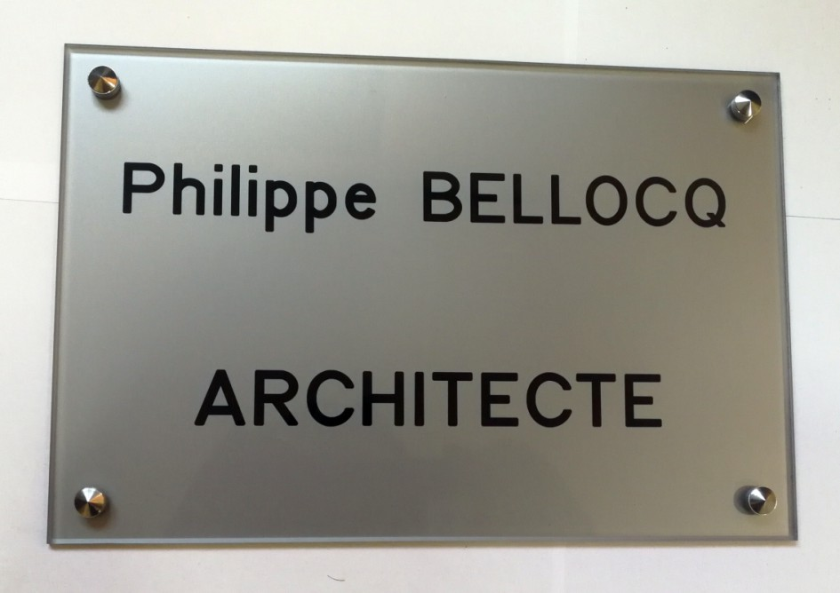 Exemple de plaque architecte
