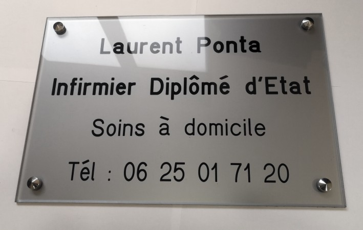 Exemple de plaque infirmier