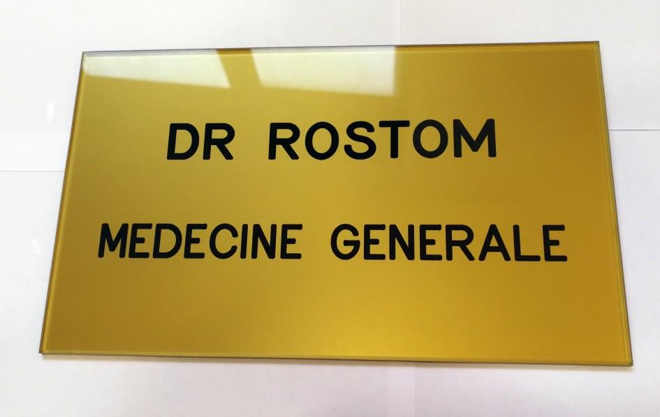 Exemple de plaque pour médecin généraliste