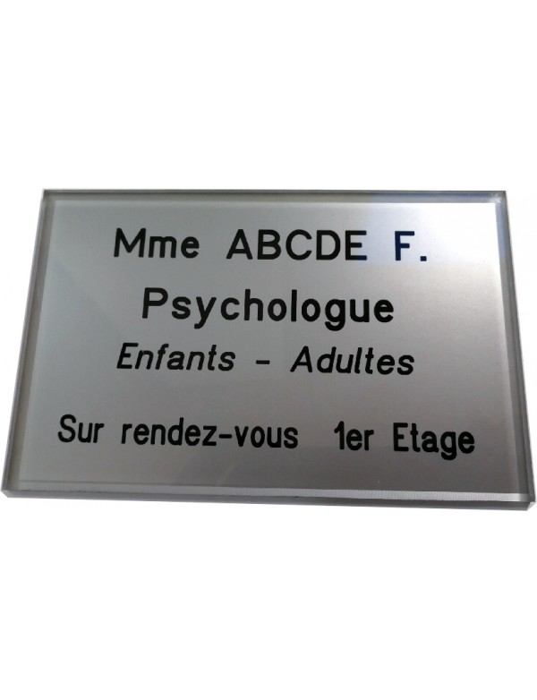 Plaque Psychologue
