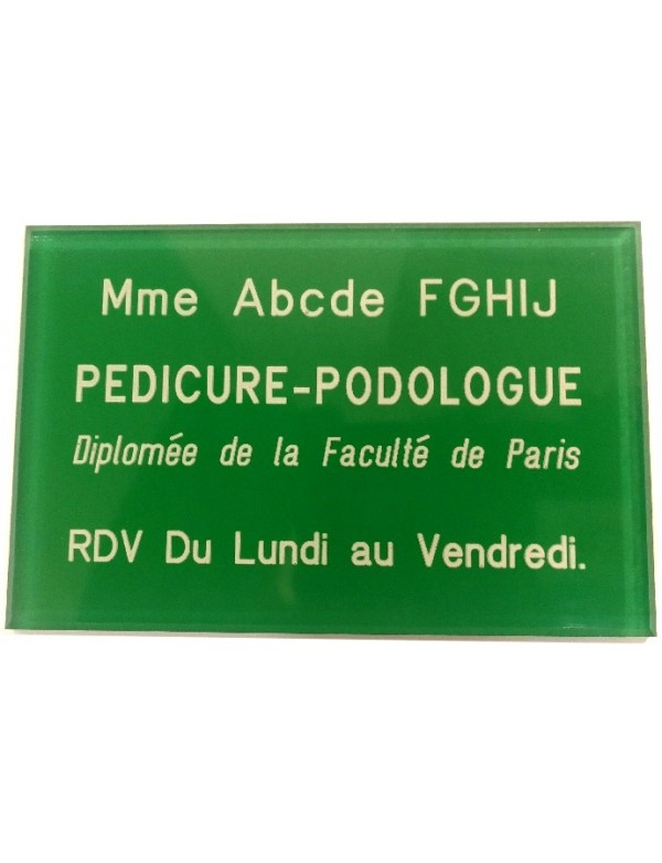 Plaque Pédicure-Podologue