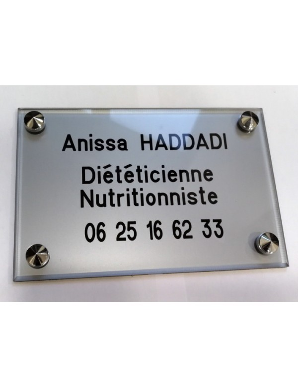 Plaque Diététicienne Nutritionniste