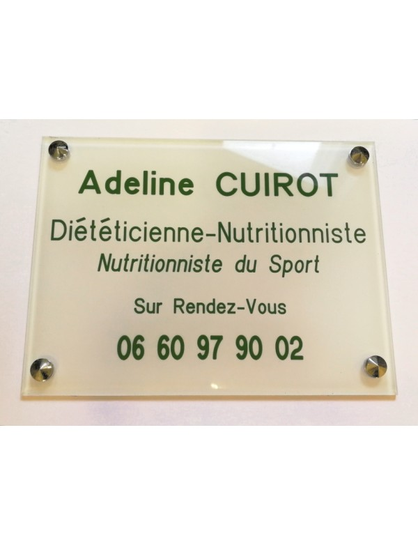 Plaque Nutritionniste