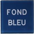 Plaque plexi bleue
