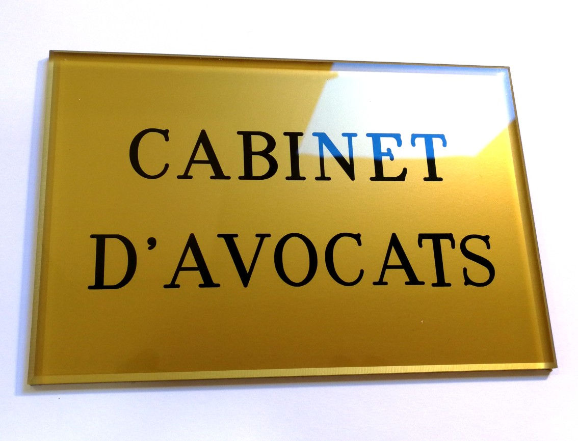 Exemple plaque cabinet avocats