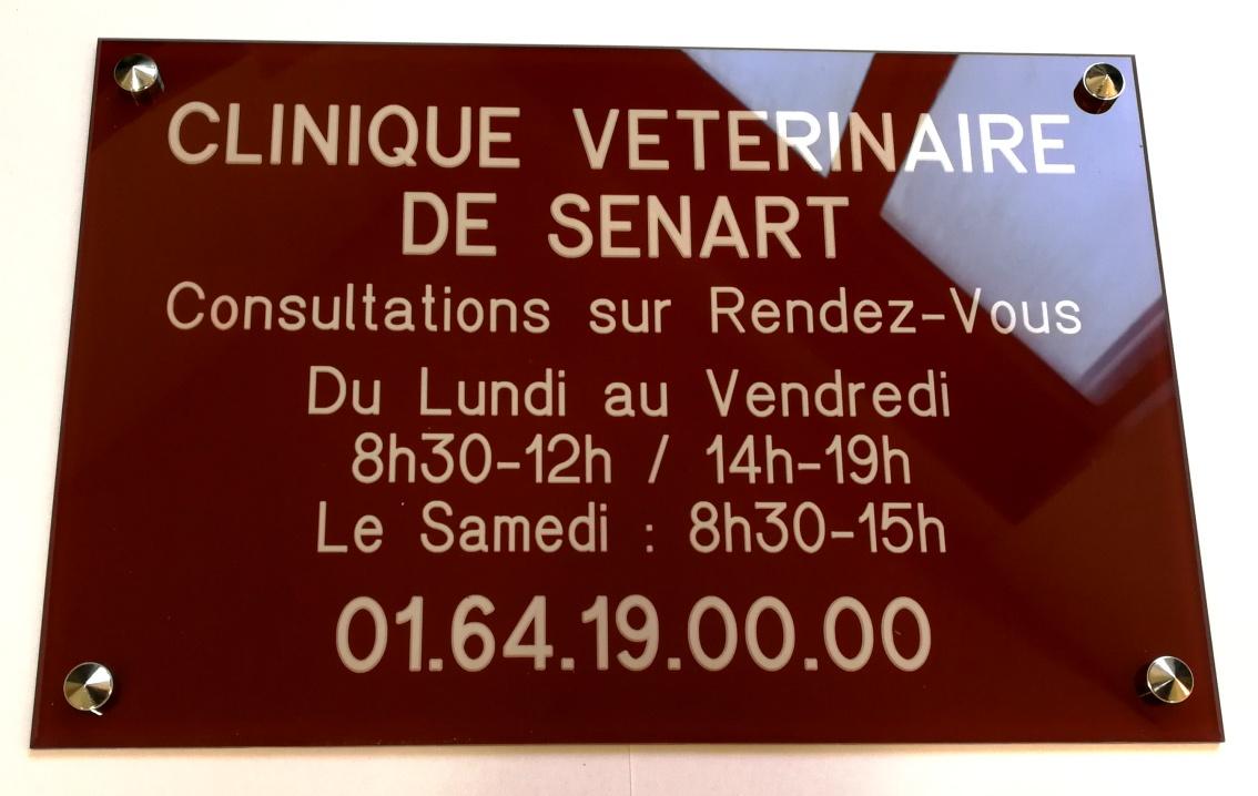 plaque vétérinaire