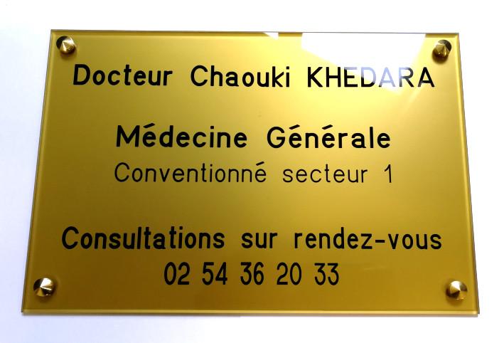 plaque médecin généraliste