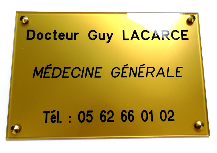 plaque professionnelle médecin généraliste