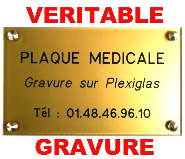 Plaque professionnelle médicale